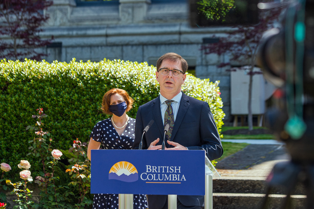 Minister of Health Adrian Dix and MLA Michelle Mungall announce 495 new long-term care beds for Interior